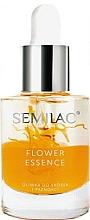 Profumi e cosmetici Olio protettivo per unghie e cuticole con olio di semi di pesca - Semilac Flower Essence Orange Strength