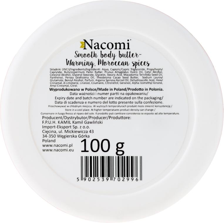 """Burro corpo """"Spezie calde marocchine"""" - Nacomi Smooth Body Butter Warming Moroccan Spices — foto N2"""