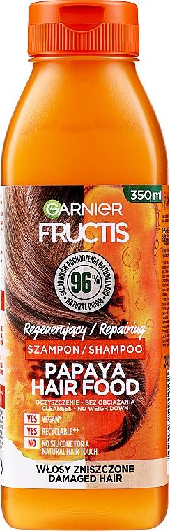 "Shampoo ripristinante per capelli danneggiati ""Papaya"" - Garnier Fructis Repairing Papaya Hair Food Shampoo"