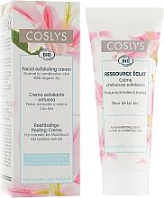 Profumi e cosmetici Crema viso esfoliante con estratto di giglio per pelli normali e miste - Coslys Facial Care Exfoliating Facial CreamWith Lily Extract