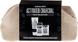 Profumi e cosmetici Set - Schmidt's Activated Charcoal Trio Selection (deo/58ml + soap/142g + t/past/100ml + bag)