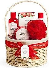 Profumi e cosmetici Set - IDC Institute Vintage Fruits (sh/g/160ml+b/lot/160ml+b/scrub/110ml+salt/100g+sponge+basket)