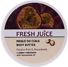 """Profumi e cosmetici Crema- burro corpo """"Frutto della passione e macadamia"""" - Fresh Juice Passion Fruit & Macadamia"""