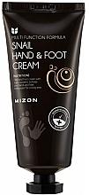 Profumi e cosmetici Crema mani e piedi alla bava di lumaca - Mizon Snail Hand And Foot Cream