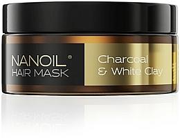 Profumi e cosmetici Maschera per capelli con carbone e argilla bianca - Nanoil Charkoal & White Clay Hair Mask