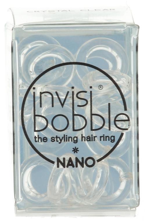 Elastico a spirale per capelli - Invisibobble Nano Crystal Clear — foto N2