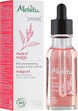 Profumi e cosmetici Olio per capelli - Melvita Organic Pre-Shampoo Indigo Oil