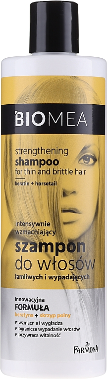 Shampoo rinforzante per capelli fragili e cadenti - Farmona Biomea Strengthening Shampoo
