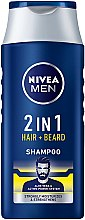 Profumi e cosmetici Shampoo per capelli e barba 2 in 1 - NIVEA Men 2 in 1 Protect & Care Shampoo