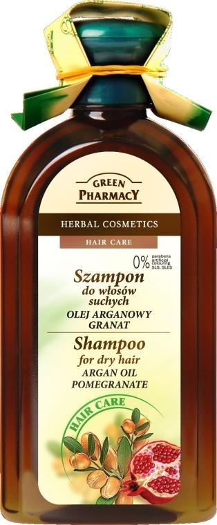 """Shampoo per capelli secchi """"Olio di argan e melograno"""" - Green Pharmacy"""