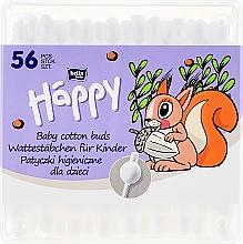 Profumi e cosmetici Bastoncini di cotone con limitatore, 56 pezzi - Bella Baby Happy