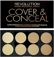 Profumi e cosmetici Concealer viso - Makeup Revolution Ultra Cover and Conceal Palette