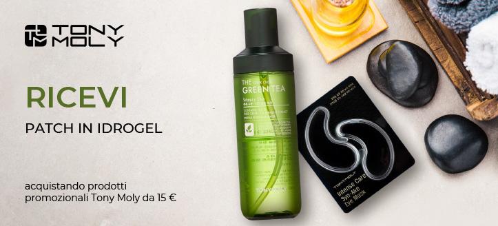 Acquistando prodotti promozionali Tony Moly da 15 €, ricevi in regalo patch occhi in idrogel
