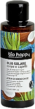 """Profumi e cosmetici Olio solare per corpo e capelli """"Acqua di cocco e aloe"""" - Bio Happy Hair & Body Tanning Oil Coconut Water And Aloe"""