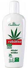Profumi e cosmetici Latte viso e corpo per bambini - Cannaderm Robatko