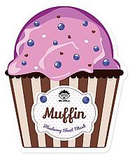 Profumi e cosmetici Maschera viso in tessuto - Dr. Mola Muffin Blueberry Sheet Mask