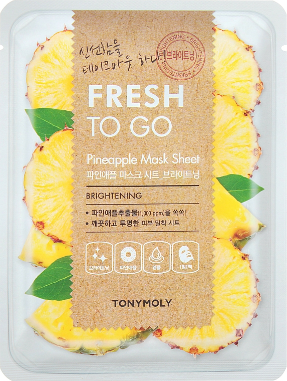 Maschera in tessuto rinfrescante all'ananas - Tony Moly Fresh To Go Mask Sheet Pineapple — foto N1