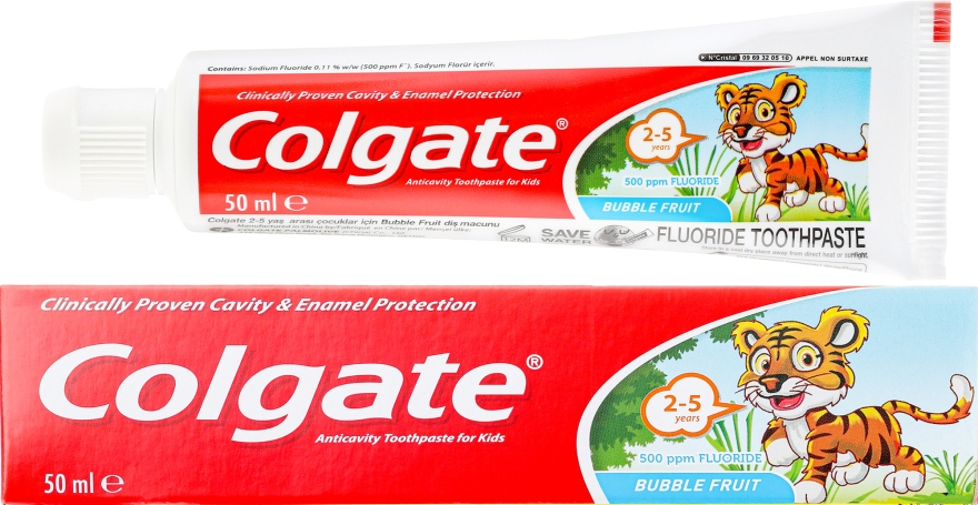 Dentifricio per bambini 2-3 anni - Colgate Toddler Bubble Fruit Anticavity Toothpaste For 2-5 Years Kids
