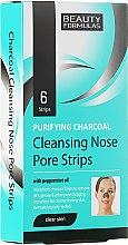 Profumi e cosmetici Cerotti, pulizia profonda pelle naso - Beauty Formulas Purifying Charcoal Deep Cleansing Nose Pore