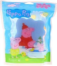 "Profumi e cosmetici Spugna da bagno ""Peppa Pig"", inverno, blu - Suavipiel Bath Sponge"