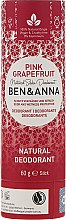 """Profumi e cosmetici Deodorante al bicarbonato """"Pompelmo rosa"""" - Ben & Anna Natural Soda Deodorant Paper Tube Pink Grapefruit"""