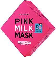 Profumi e cosmetici Maschera viso al latte in tessuto - Duft & Doft Pink Milk Mask Tone Up+ Radiance