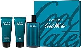 Profumi e cosmetici Davidoff Cool Water - Set (edt/125ml + sh/gel/75ml + ash/balm/75ml)