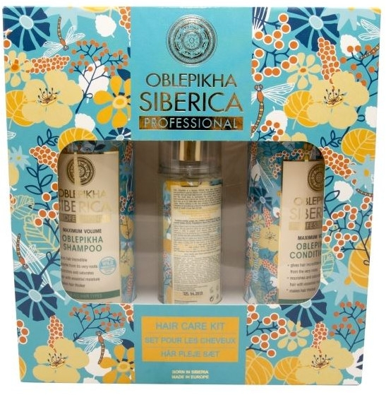 Set - Natura Siberica Oblepikha Hair Care Kit (shm/400ml + cond/400ml + spray/125ml)