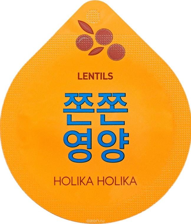 Maschera viso nutriente, da notte - Holika Holika Superfood Capsule Lentils