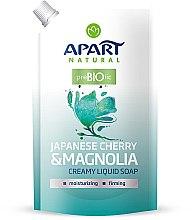 """Profumi e cosmetici Sapone liquido cremoso """"Ciliegio giapponese e magnolia"""" - Apart Natural Japanese Cherry & Magnolia Soap (doy-pack)"""