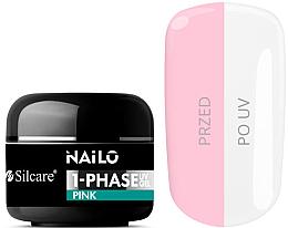 Profumi e cosmetici Gel per unghie - Silcare Nailo 1-Phase Gel UV Pink