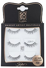 "Profumi e cosmetici Ciglia finte a ciuffetti ""Katie"" - Sosu by SJ Makeup Artist Multipack Eyelashes"