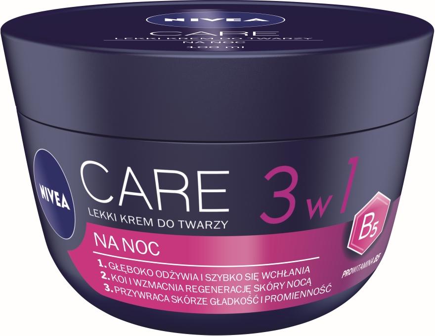 Crema viso leggera da notte - Nivea Care Night Light Face Cream