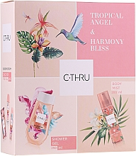 Profumi e cosmetici C-Thru Tropical Angel & Harmony Bliss - Set (mist/200ml + sh/gel/250ml)