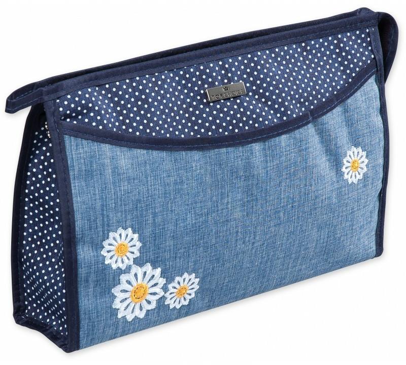 """Beauty case """"Camomiles"""", 98215, con fiori - Top Choice"""