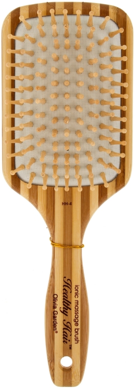 Spazzola da massaggio, in bambù - Olivia Garden Healthy Hair Large Paddle HH4 — foto N1