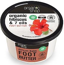 "Profumi e cosmetici Burro piedi ""Balsamo Africano"" - Organic Shop Organic Hibiscus & 7 Oils Foot Butter"