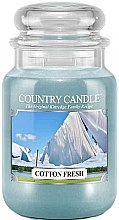 Profumi e cosmetici Candela profumata in vetro - Country Candle Cotton Fresh