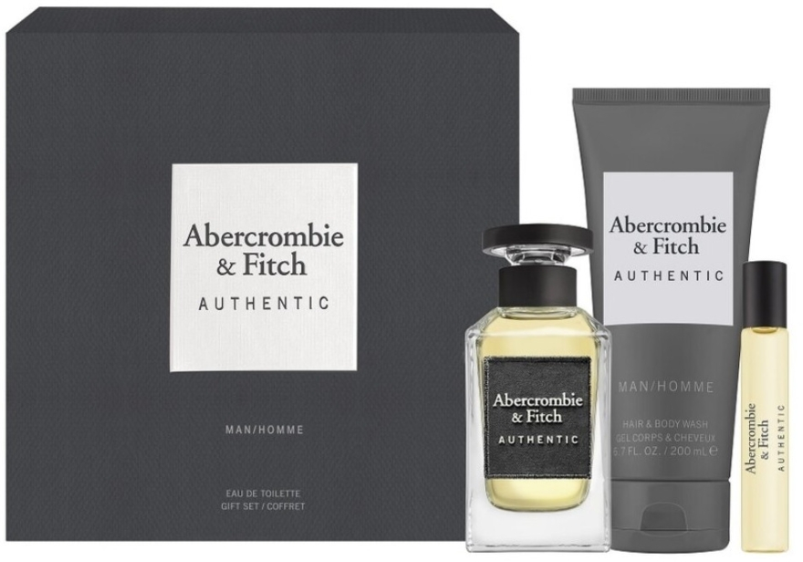 Abercrombie & Fitch Authentic Men - Set (edt/100ml + edt/15ml + sh/gel/200ml)