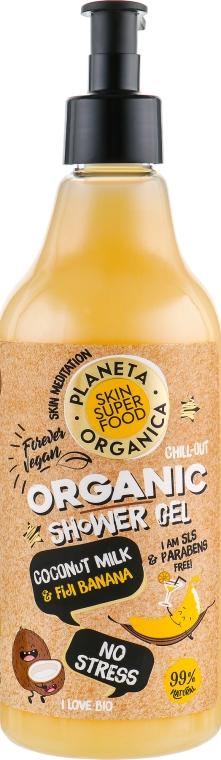Gel doccia - Planeta Organica No Stress Skin Super Food Shower Gel Coconut Milk & Fiji Banana