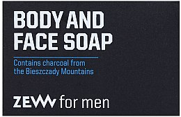 Profumi e cosmetici Sapone solido viso e corpo - Zew For Men Body And Face Soap