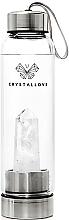 Profumi e cosmetici Bottiglia in cristallo di quarzo bianco, 500 ml - Crystallove