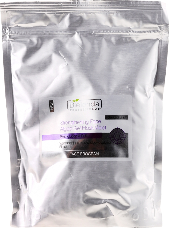 "Maschera gel rinforzante alle alghe ""Viola"" - Bielenda Professional Program Face Strengthening Face Algae Gel Mask Violet"