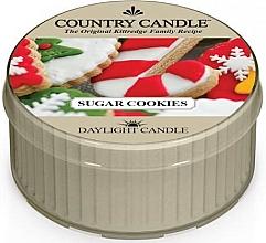 """Profumi e cosmetici Candela da tè """"Biscotti di zucchero"""" - Country Candle Sugar Cookies Daylight"""