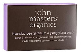 Profumi e cosmetici Sapone viso e corpo - John Masters Organics Lavender Rose Geranium & Ylang Ylang Soap