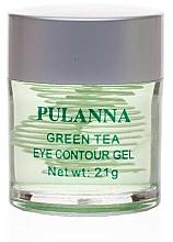Profumi e cosmetici Gel occhi tonificante - Pulanna Green Tea Eye Countour Gel
