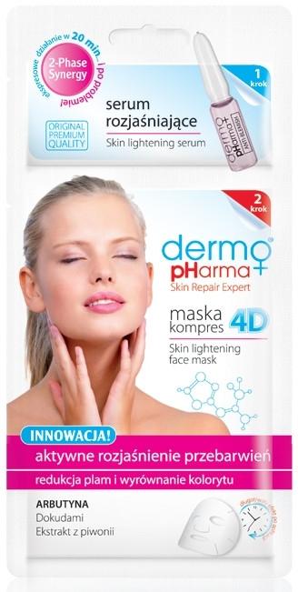 """Maschera-compress 4D + siero schiarente """"Schiarimento attivo delle decolorazioni"""" - Dermo Pharma Skin Lightening"""