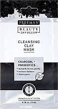 Profumi e cosmetici Maschera purificante per il viso, con carbone attivo, probiotici e siero - Freeman Beauty Infusion Cleansing Clay Mask Charcoal & Probiotics (mini)