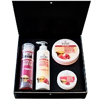 Profumi e cosmetici Set - Hristina Cosmetics Stani Chef's Raspberry Muffin (b/lot/250ml + sh/gel/250ml + b/scrub/250ml + h/cr/100ml)
