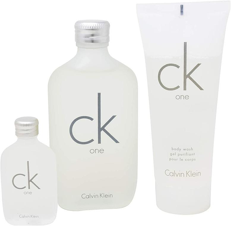 Calvin Klein CK One - Set (edt/100ml + sh/gel/100ml + edt/15ml) — foto N3